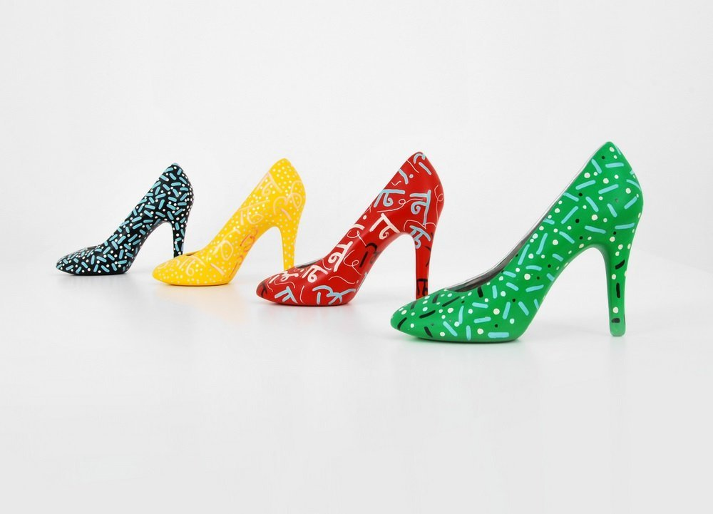 Romero Britto Shoes, Signed Editions - 4