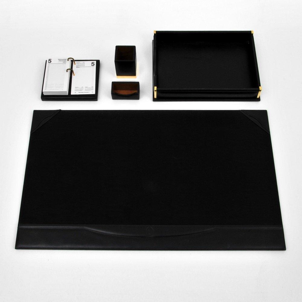 Mark Cross 5-Piece Leather Desk Set