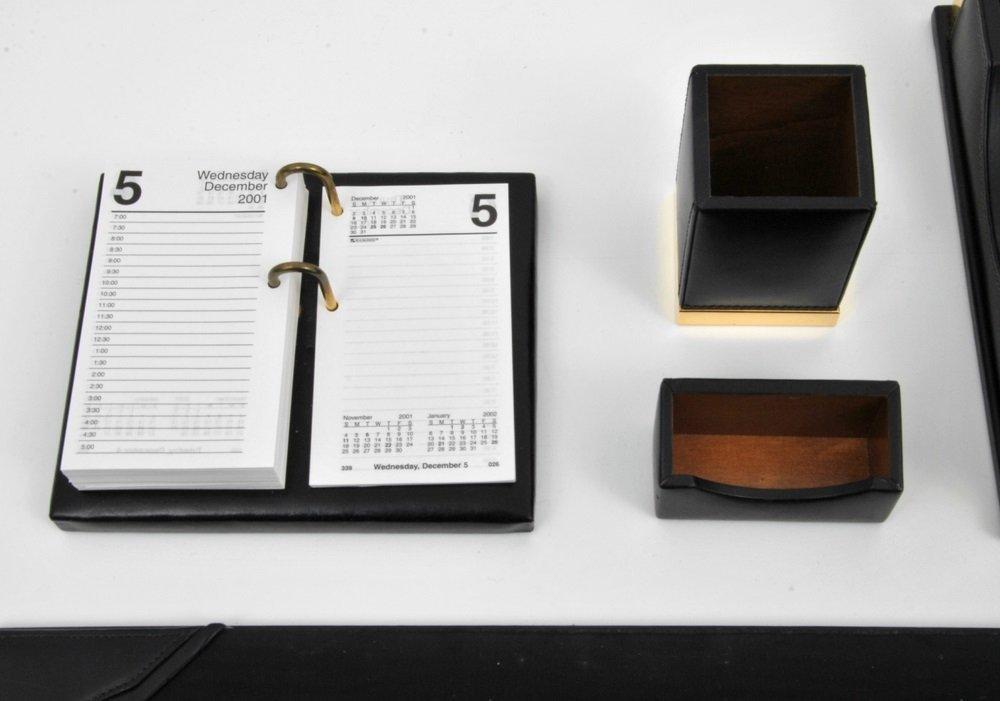 Mark Cross 5-Piece Leather Desk Set - 2