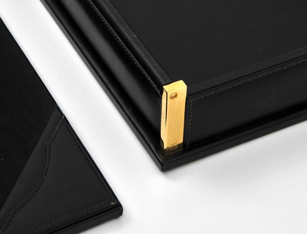 Mark Cross 5-Piece Leather Desk Set - 4