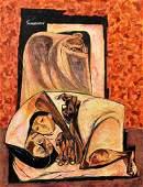 Oswaldo Guayasamin Painting, Original Work