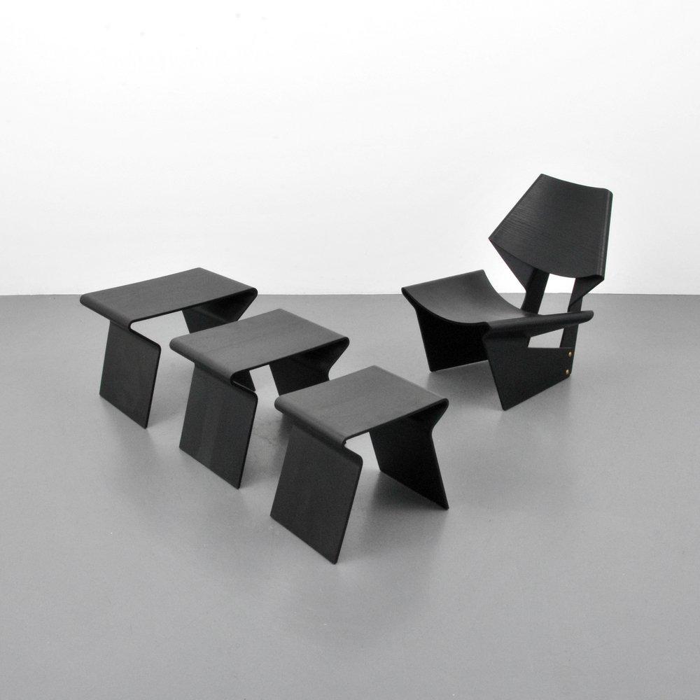 Grete Jalk Chair & Nesting Tables