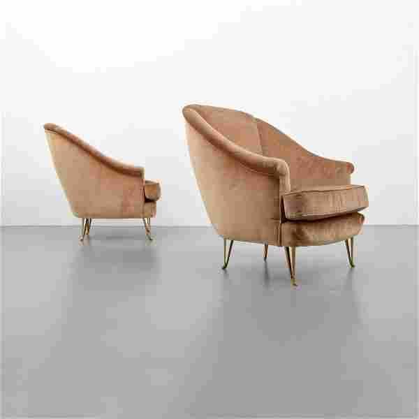 Pair of Gio Ponti Lounge Chairs, Ponti Archives Cert.