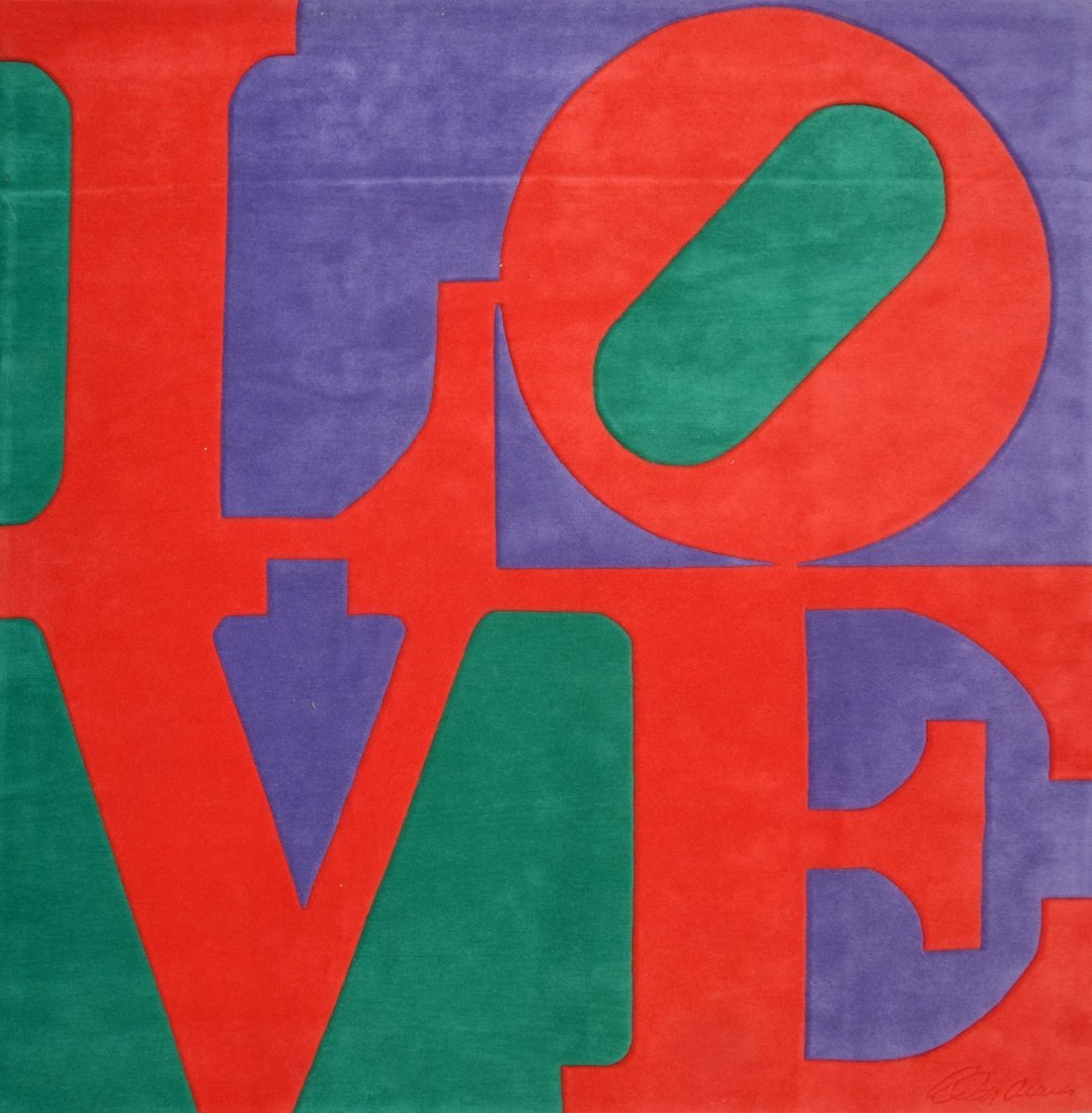 Large Robert Indiana Rug