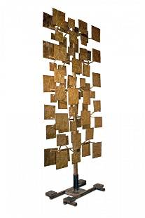 Monumental 11' Two-Sided Harry Bertoia Sculpture