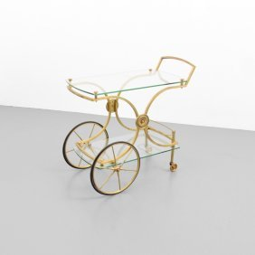 French Wheeled Bar Cart