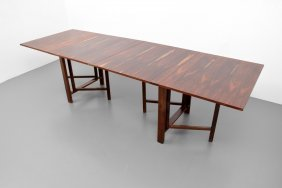 "Bruno Mathsson Rosewood ""maria"" Dining Table"