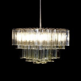 Multi-tiered Camer Glass Chandelier