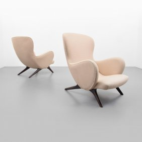 Italian Lounge Chairs, Manner Of Vladimir Kagan