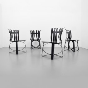 Frank Gehry Cross Check Chairs, Set Of 4