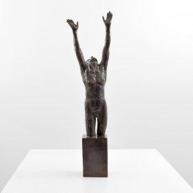 Large Victor Salmones Bronze Sculpture