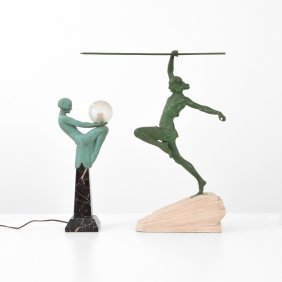 Art Deco Style Light & Sculpture