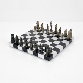 Vic Gentils 835 Silver Chess Set