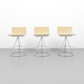 Saporiti Stools, Set Of 3