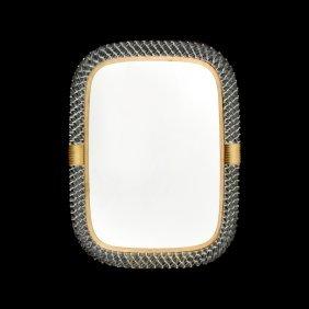 Large Venini Vanity Mirror, Signed