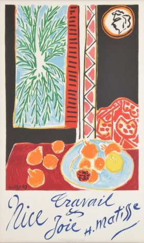 Henri Matisse Lithograph Poster, Limited Edition