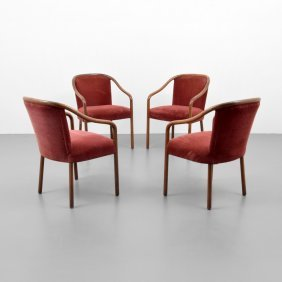 Ward Bennett Arm Chairs, Set Of 4