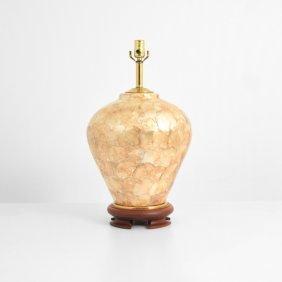 Large Capiz Lamp