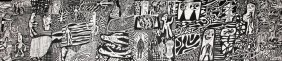 Monumental Jean Dubuffet Serigraph, Limited Edition