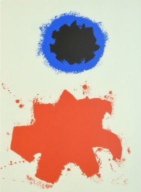 Adolph Gottlieb Lithograph, Signed Limited Edition