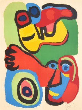 Karel Appel Lithograph, Signed Limited Edition