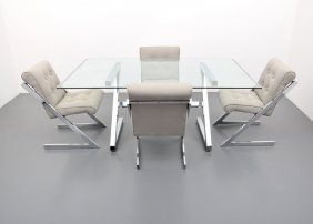 Dia Dining Table & Set Of 4 Chairs