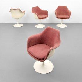 Eero Saarinen Tulip Arm Chairs, Set Of 4