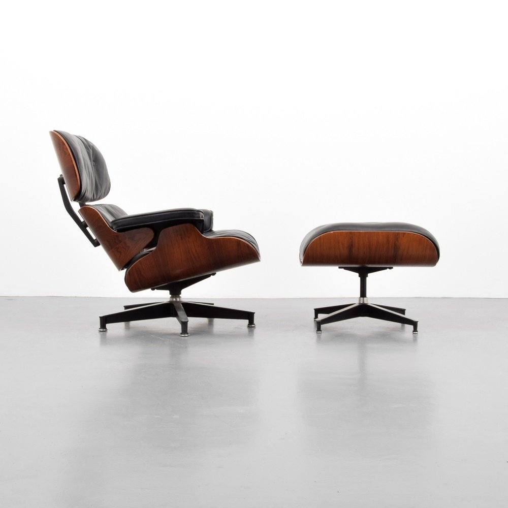 Charles & Ray Eames Rosewood Lounge Chair & Ottoman