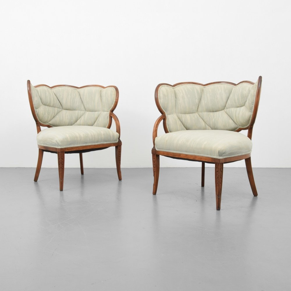 Pair of Lounge Chairs, Manner of Dorothy Draper