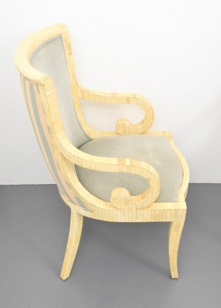 Set of 4 Arm Chairs, Manner of Karl Springer - 2
