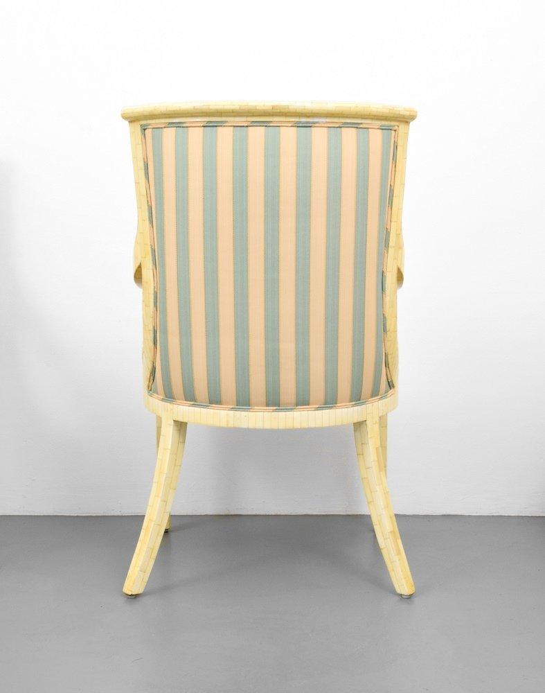 Set of 4 Arm Chairs, Manner of Karl Springer - 3