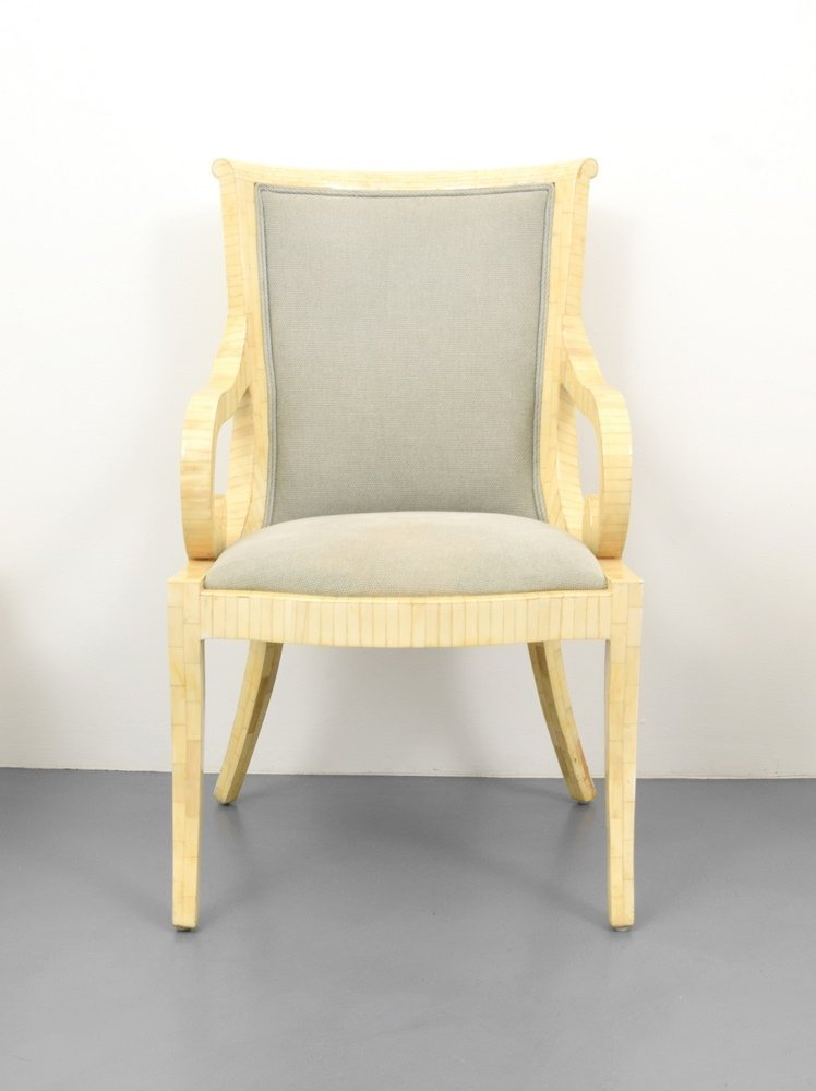 Set of 4 Arm Chairs, Manner of Karl Springer - 4