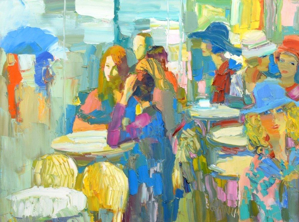 Large Nicola Simbari Painting, Original Work