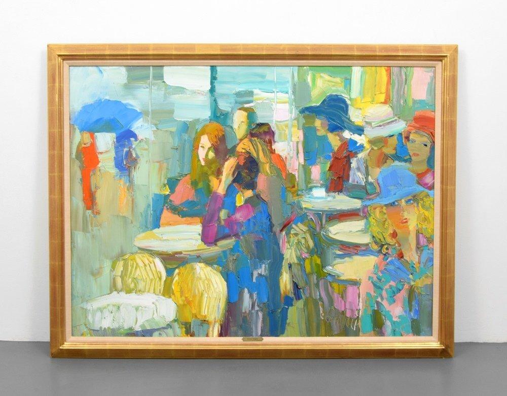 Large Nicola Simbari Painting, Original Work - 2