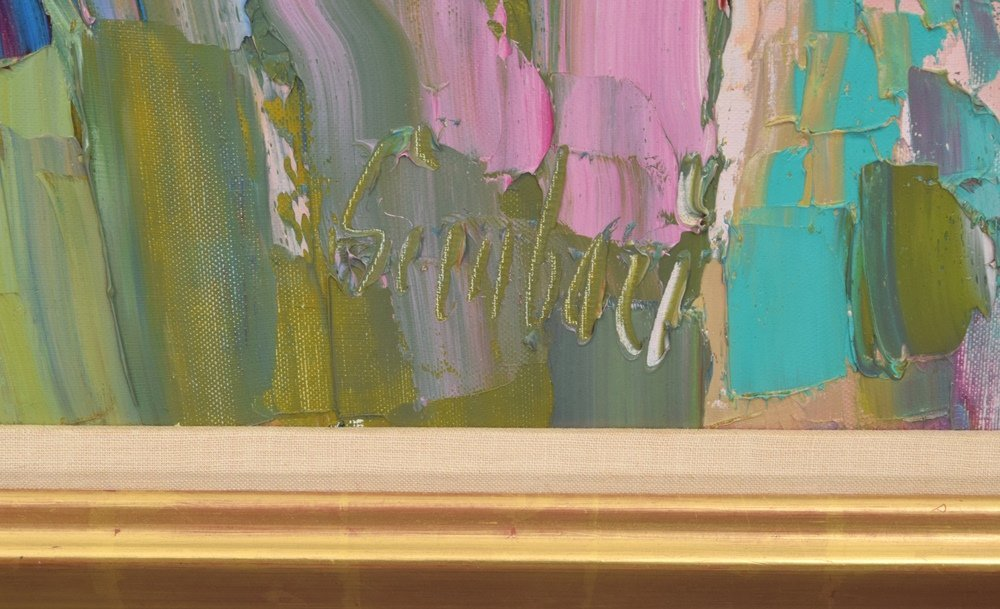 Large Nicola Simbari Painting, Original Work - 6