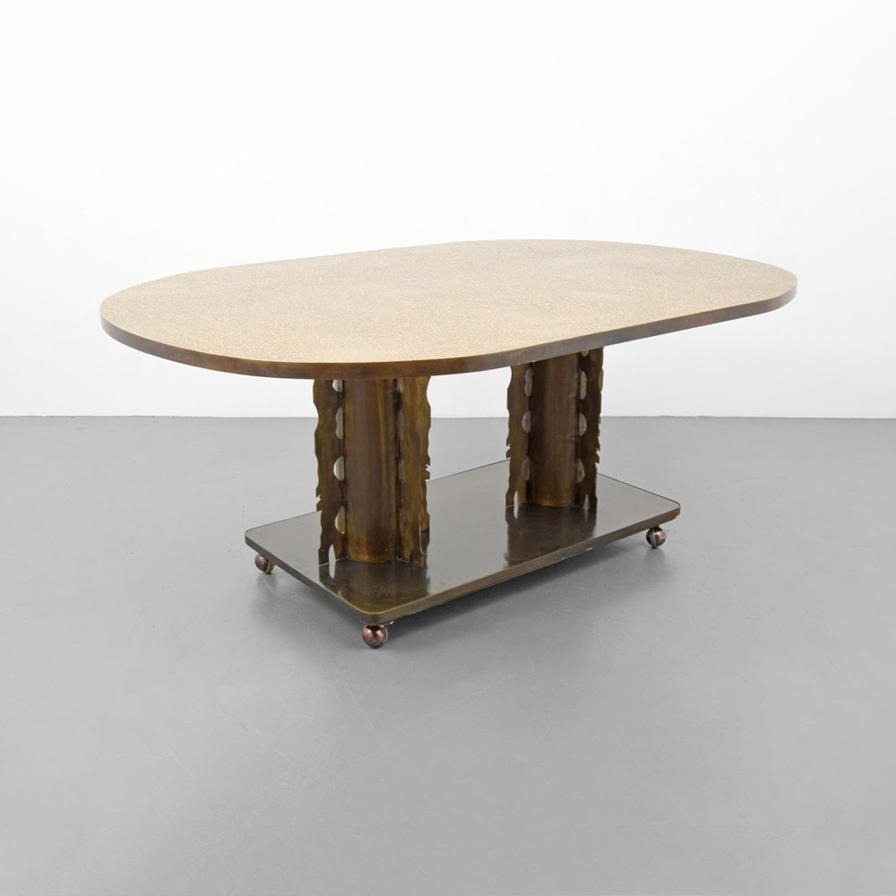 Rare Philip & Kelvin LaVerne ETRUSCAN Dining Table