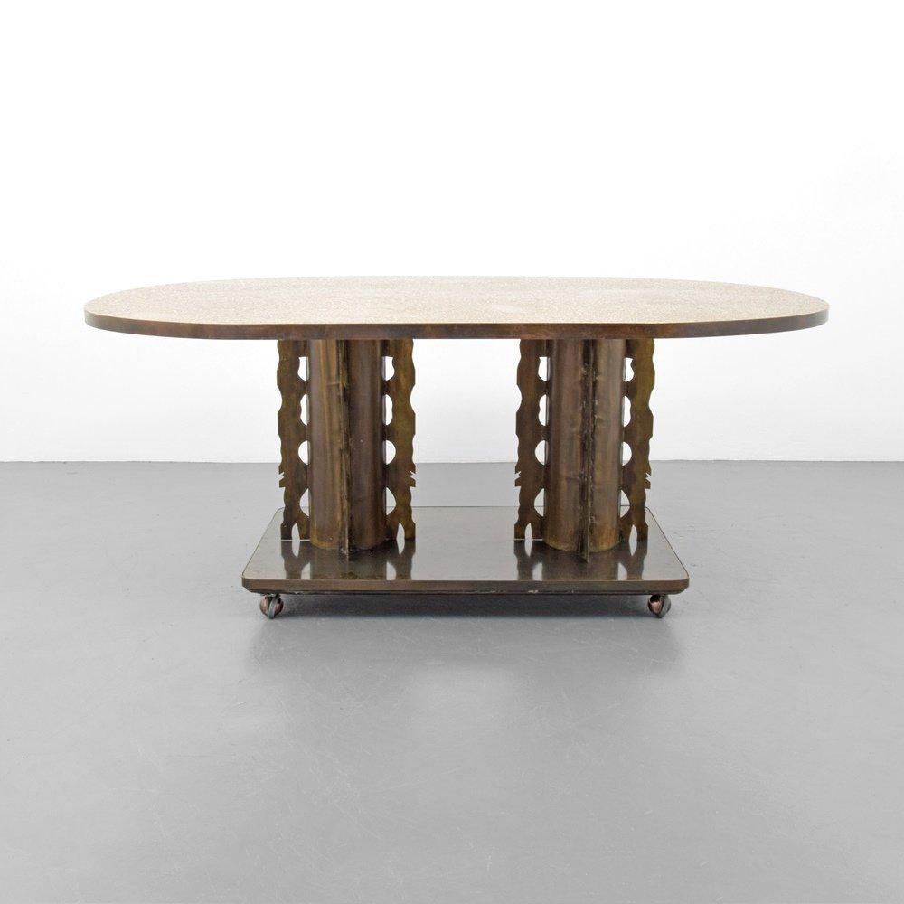 Rare Philip & Kelvin LaVerne ETRUSCAN Dining Table - 3