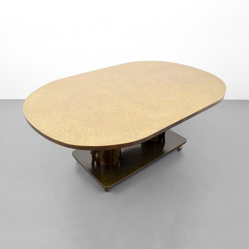 Rare Philip & Kelvin LaVerne ETRUSCAN Dining Table - 5