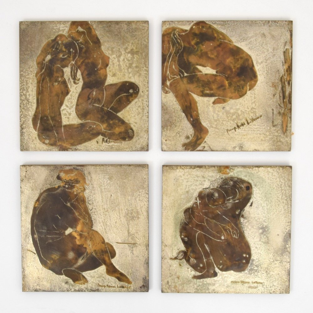 Philip & Kelvin LaVerne Plaques, Set of 4