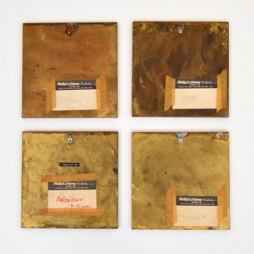 Philip & Kelvin LaVerne Plaques, Set of 4 - 6