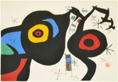 Large Joan Miro  Etching & Aquatint, Signed