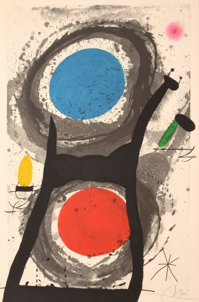 Large Joan Miro  Etching & Aquatint, Signed