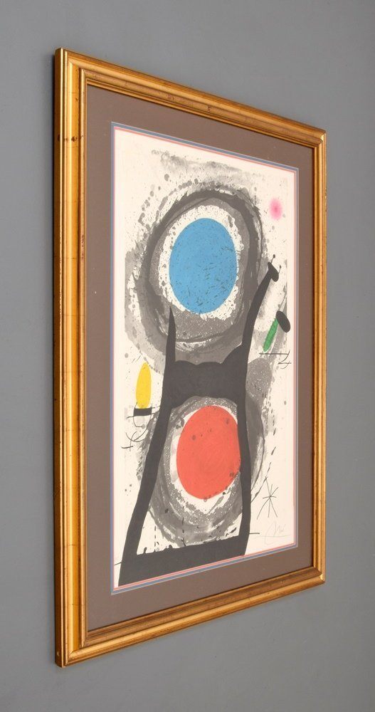 Large Joan Miro  Etching & Aquatint, Signed - 2