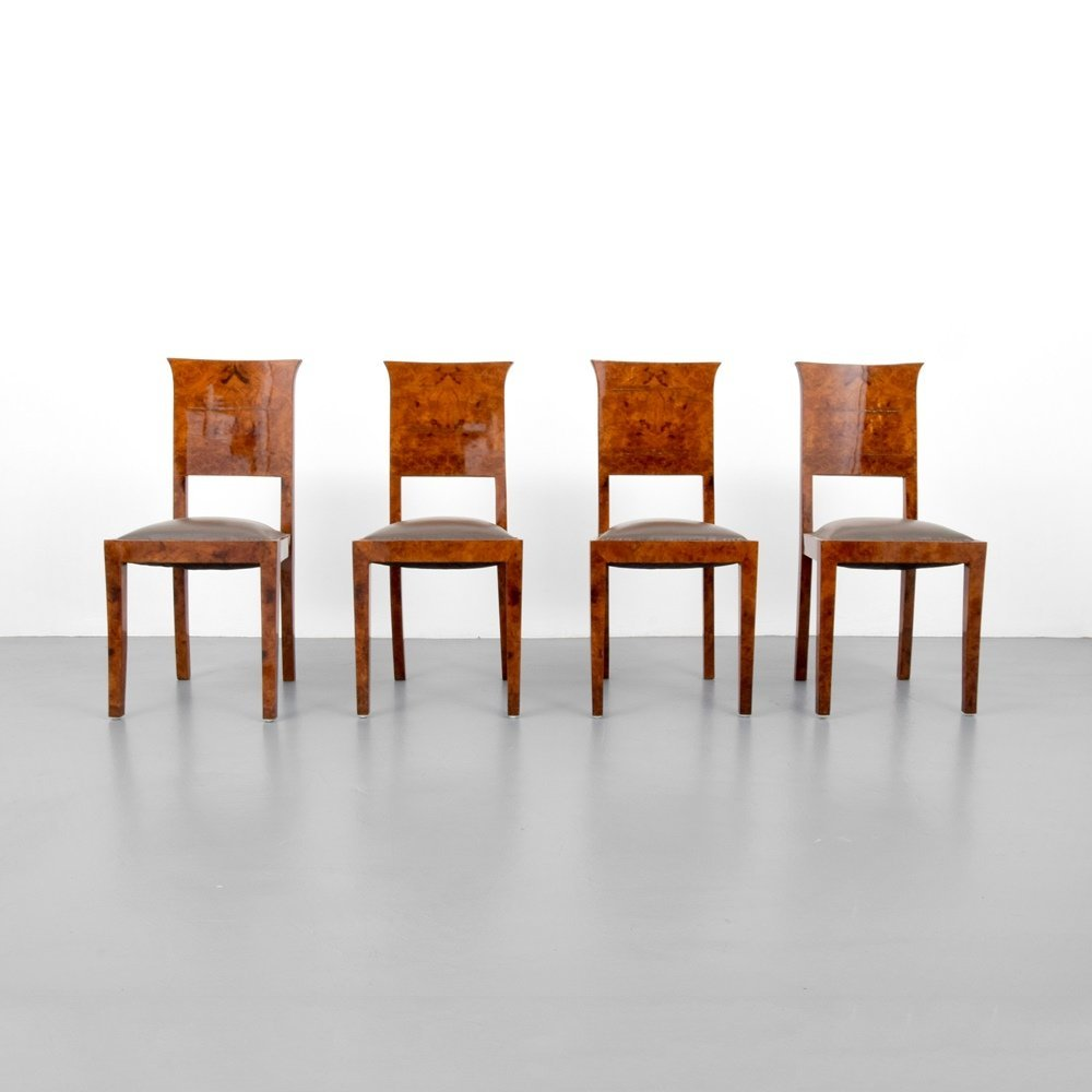Art Deco Dining Chairs, Set of 4 - 5