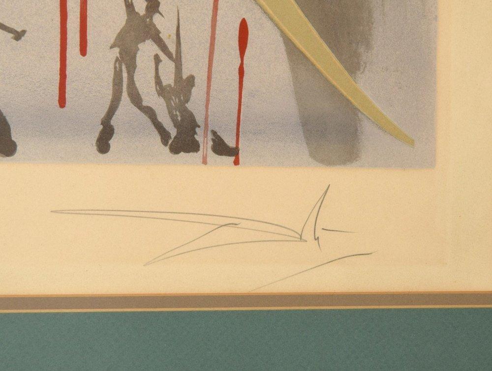 Salvador Dali Lithograph, Signed - 3