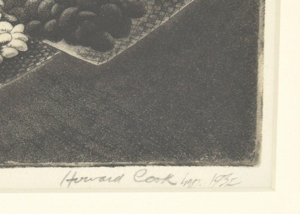 Howard Cook Aquatint, Signed - 2