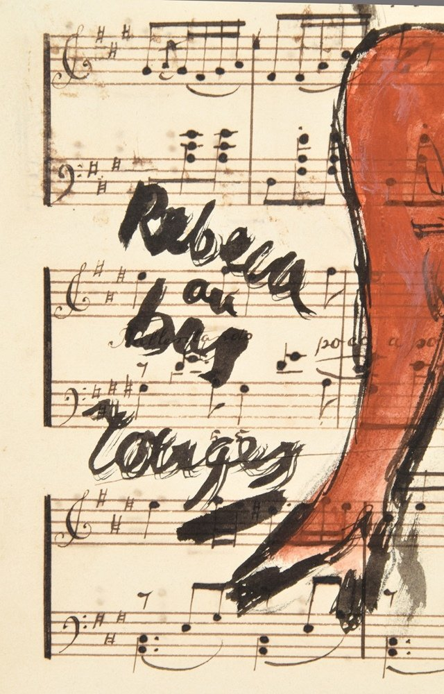 Guillaume Corneille Gouache on Sheet Music - 3