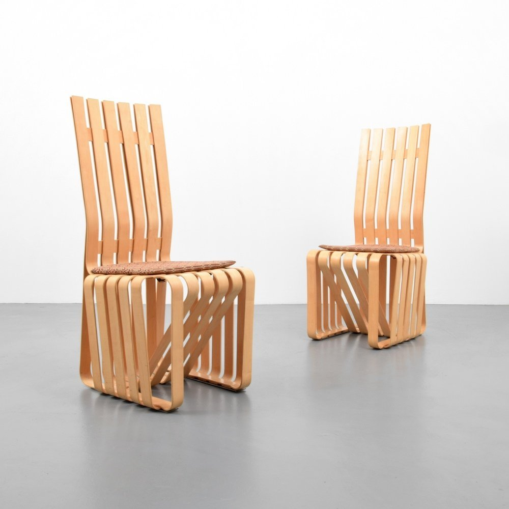 Pair of Frank Gehry HIGHSTICK Chairs