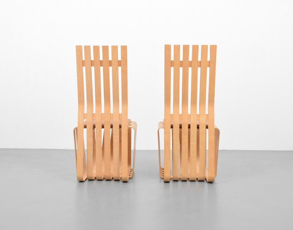 Pair of Frank Gehry HIGHSTICK Chairs - 4