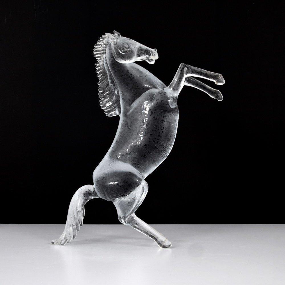 Large Pino Signoretto Horse Sculpture, Murano